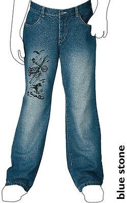 NEU COOLE 4-POCKET BAGGY SKATER JEANS blue used 152 188 XXS ARIZONA blau *770789