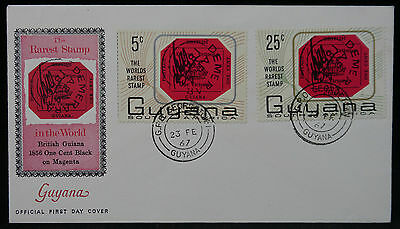 Guyana 1967 Rarest Stamp Cover, GPO Georgetown Cancel. 23/6/1967. Unaddressed