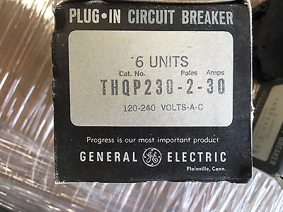 GE 30 amp dbl pole sngl space breaker THQP230 NEW!