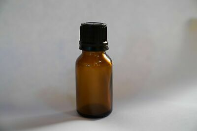 15 ml Amber Glass Bottles with Black Eurodropper Lid - Multiple Lots