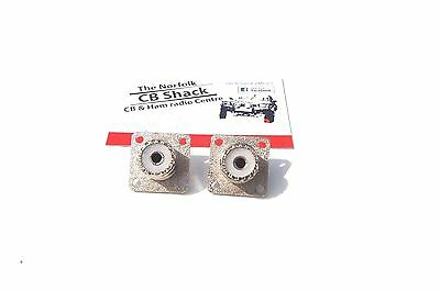 2 x SO239  Chassis Mount Female Panel Sockets
