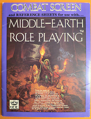Middle Earth Roleplaying Combat Screen and Reference Sheets MERP