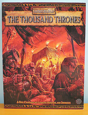 Thousand Thrones NEW Warhammer Fantasy Roleplay 2nd Edition