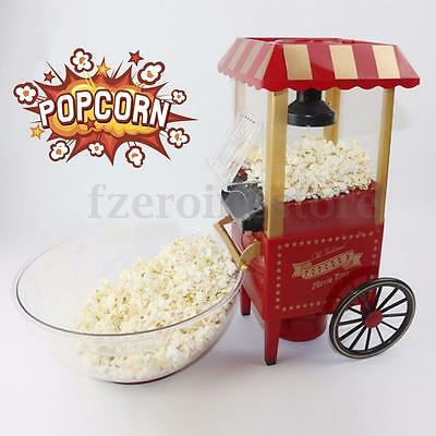 Retro Electric Air Popcorn Maker Popper Machine Home Party Carnival Kids Gift