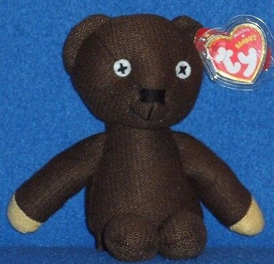 TY MR. BEAN the TEDDY BEANIE BABY - UK EXCLUSIVE - MINT with MINT TAG