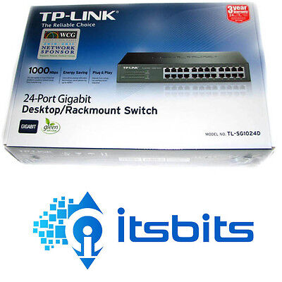 Tp-Link Tl-Sg1024D 24 Port Gigabit 10/100/1000 Fast Ethernet Switch Rack Desktop