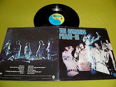 "The Osmonds - Phase III - RARE Original 1971 USA Pressing ""MGM Records"" LP EX"