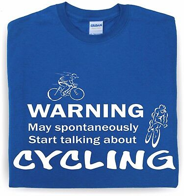 CYCLING WARNING Funny cyclist t-shirt bicycle tee gift birthday present famousfx