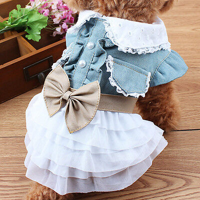 Pet Dog Cat Clothes Flower Princess Pet Puppy Shirt Vest Summer Skirt Apparel