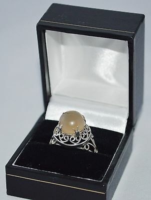 Vintage Jewellery Silver Ring With Moonstone A Lovely Handcrafted Unique Ring