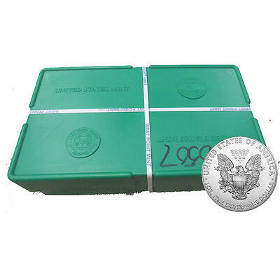 500 Silver American Eagle 1oz Coins Sealed in a US Mint Sealed Monster Box
