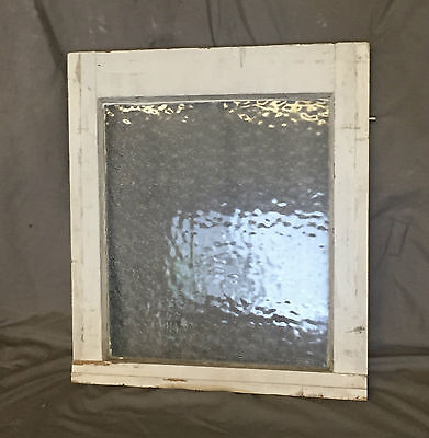 Antique Small Window Sash Florentine Privacy Glass Old Vintage Cottage 1220-16