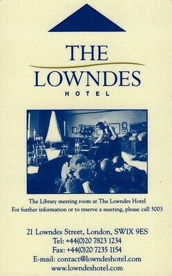 """Clef Hotel  """"the Lowndes""""  (Hotel Key) (Type 2)"""