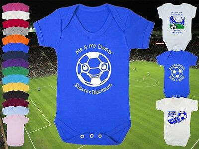 BLACKBURN ROVERS Football BABYGROW/Vest/Bodysuit/Romper - Cute Personalised gift