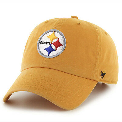 dd70ca81e295dd PITTSBURGH STEELERS 47 Brand Clean Up Hat Adjustable Cap Gold ...
