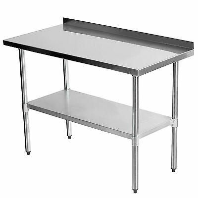3FTx2FT Commercial Stainless Steel Catering Table Backsplash Work Bench Kitchen