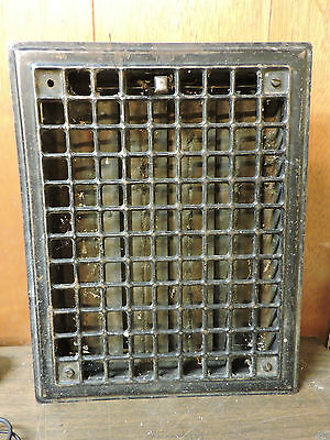 Vintage 1920S Iron Heating Grate Square Design 14 X 10.75 C