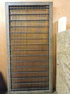 Huge Vintage 1920S Iron Heating Grate Rectangular Design 16 X 32