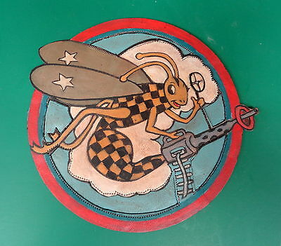 317Th Fighter Squadron/325Th Ftr. Group Layered Leather Patch