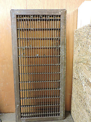 Huge Vintage 1920S Iron Heating Return Grate Rectangular Design 26 X 12