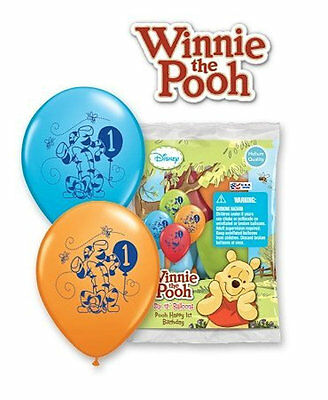 WINNIE THE Pooh 1st First Birthday Party Supplies and Balloon