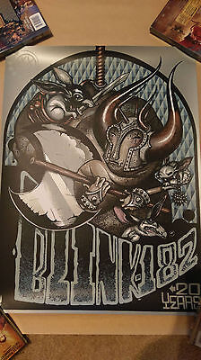 blink 182 20th Anniversary Poster Greg Simkins Limited Edition xx/182