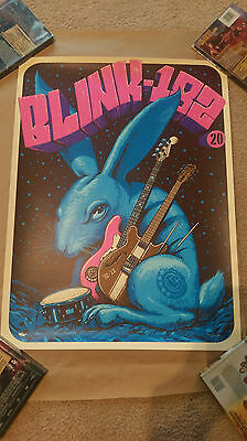 blink 182 20th Anniversary Poster Jeff Soto Limited Artist Edition xx/75