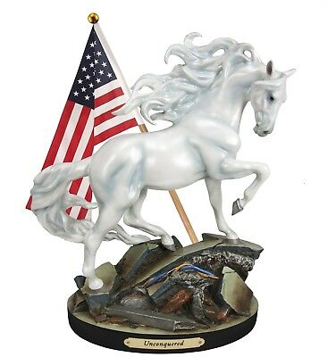 Trail Of Painted Ponies  Unconquered White Stallion 4055520 Limited Supply 1E/