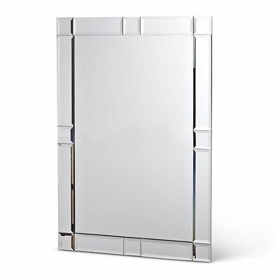 "24"" Glass Rectangular Bordered Wall Mirror Hallway Bathroom Vanity"