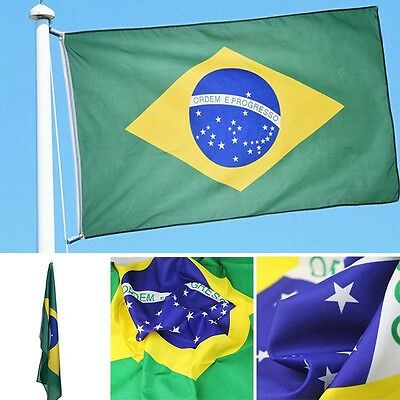 Brand New Large 3'x5' Brazilian Flag the Brazil National Flag BRA 90*150cm