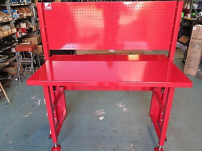 Fold up away garage hobby workshop tool pegboard work bench