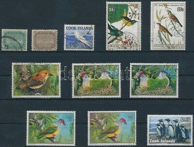 Cook Islands stamp 1898-1992 11 Bird stamps Used 1898 WS192839