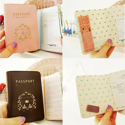 HOT Travel Utility Simple Passport ID Card Cover Holder Case Protector PVC Skin