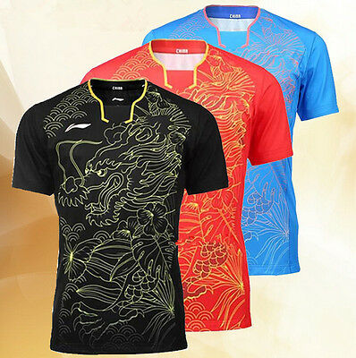 2016 Rio Olympics Li Ning men's Tops table tennis clothing Badminton T-shirt