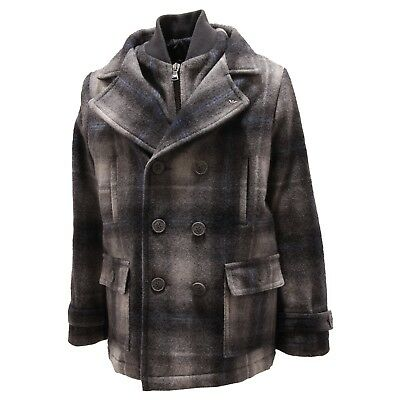 5857P cappotto bimbo quadri ARMANI JUNIOR jackets coats kids