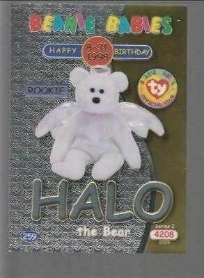 1999 TY Beanie Babie Series 2 Birthday/Rookie Card Halo Silver #259