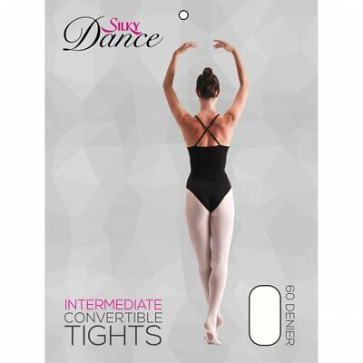 Children Convertible Ballet Dance Tights In Theatrical Pink Ages 3 - 13