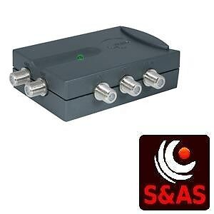 Triax 4 Way Tv Link Amplifier F-Type For Sky Magic Eyes