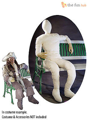 Poseable Wired Lifesize Stuffed Dummy Figure Halloween Party Prop Decoration