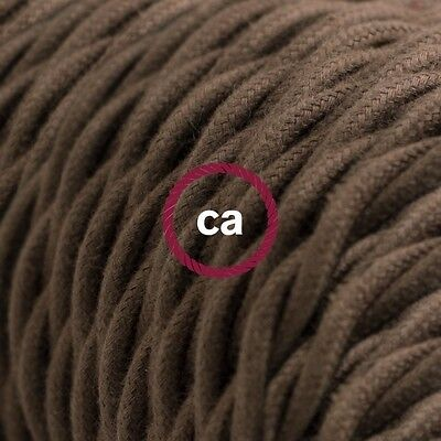 TC13 Brown Solid Twisted Electric Cable covered by Cotton