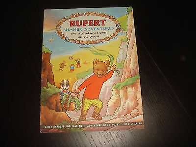 RUPERT THE BEAR ADVENTURE SERIES #33 Summer Adventures
