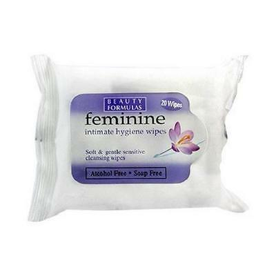 ** 2 X  Beauty Formulas Feminine Wipes Contains 20 Wipes   New **  Alcohol Free