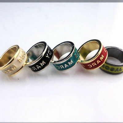 Hot Sale Marc By M Jacobs Hot 5 Colors Logo Disk Ring #r809X