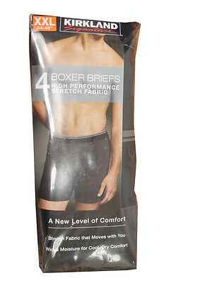 Kirkland Signature Men's Boxer Briefs Colored Pack of 4 New in Packaging!