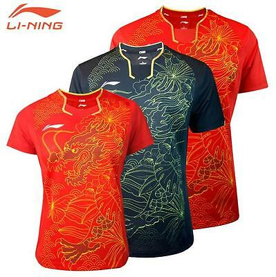2016 Rio Olympics Li-Ning Tops Table Tennis Women Clothes Only T shirts