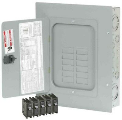 125-Amp 12-Space 24-Circuit BR Main Lug Load-Breaker Electrical Panel Value Pack