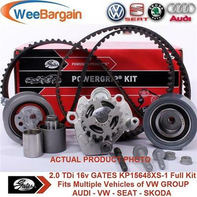 VW Group 2.0 TDI 16v Engines GATES KP15648XS-1 Timing Belt Kit with Water Pump