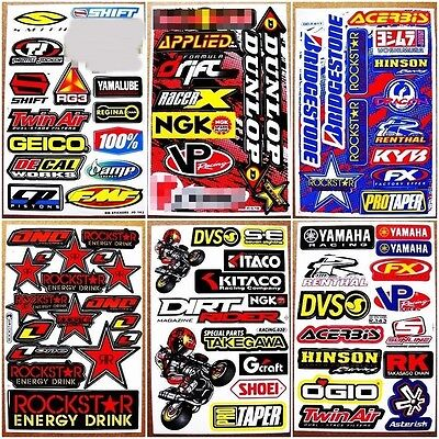 6 planches autocollant motocross sticker nascar advance racing mx1 moto gp eur 9 59 picclick fr. Black Bedroom Furniture Sets. Home Design Ideas