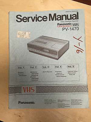 Panasonic Service Manual for the PV-1470 Omnivision VHS VCR          mp