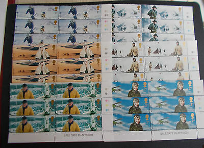 GB QEII 2003 Extreme Endeavours Set of 6 in Cylinder Blocks of 6 Right Cat £48